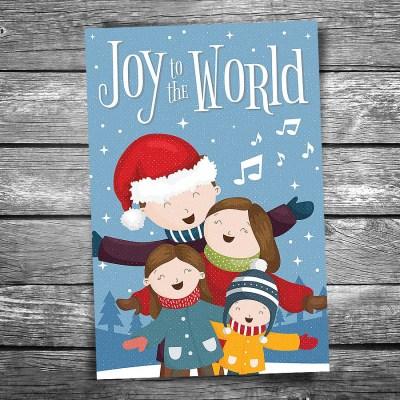 Joy to the World Christmas Postcard