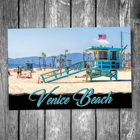 Venice Beach Lifeguard Station Postcard