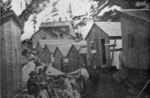 Mine workers in an 18th century company town