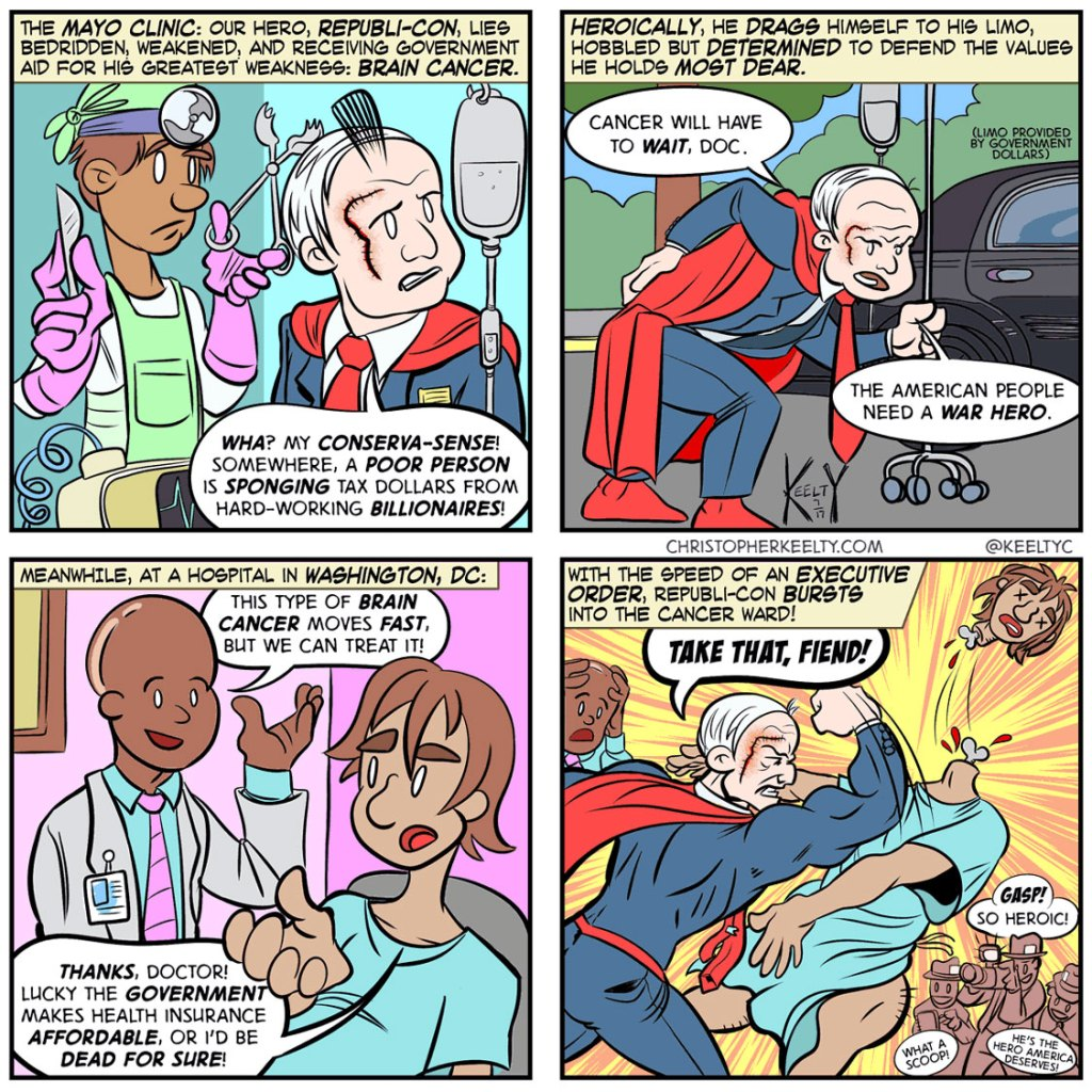 McCain to the Rescue - Comic by Christopher Keelty