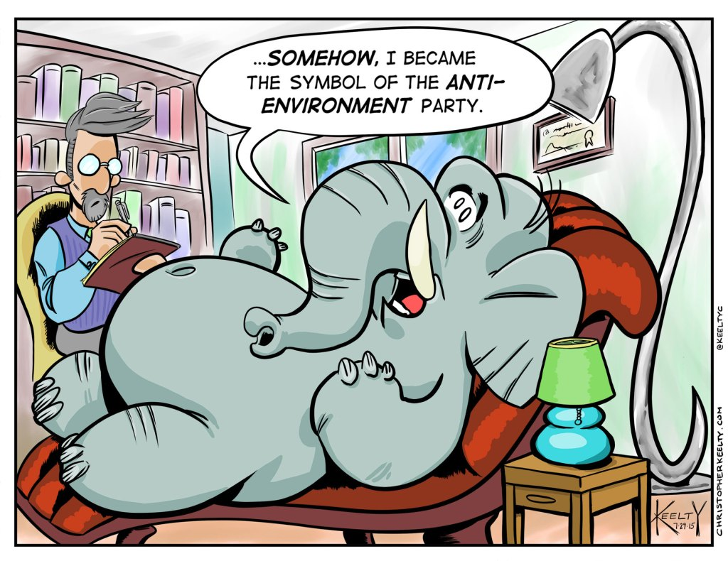 The Elephant in the Room - Comic by Christopher Keelty