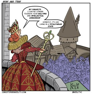 Serf and TERF - Comic by Christopher Keelty