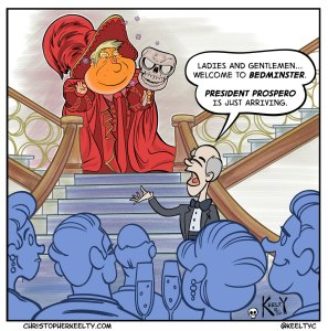 MAGA of the Red Death | Cartoon by Christopher Keelty