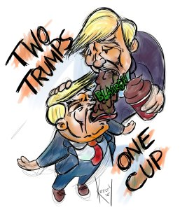 Two Trumps One Cup - Comic by Christopher Keelty