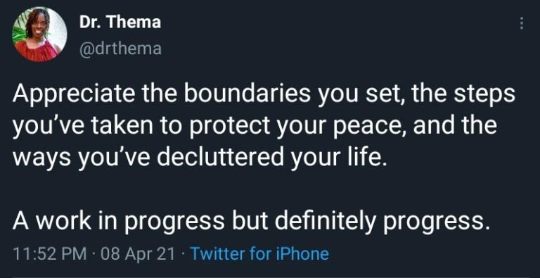 the boundaries you set