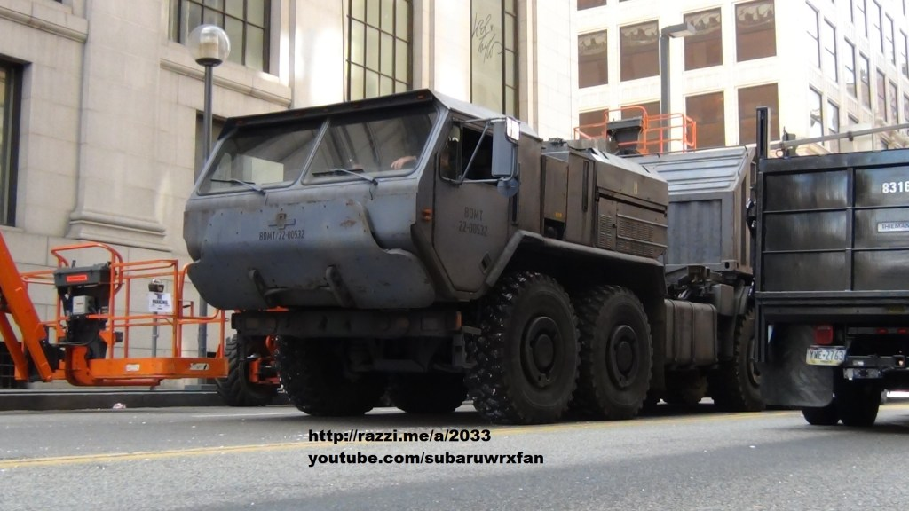 Un camion appartenant sûrement à Bane