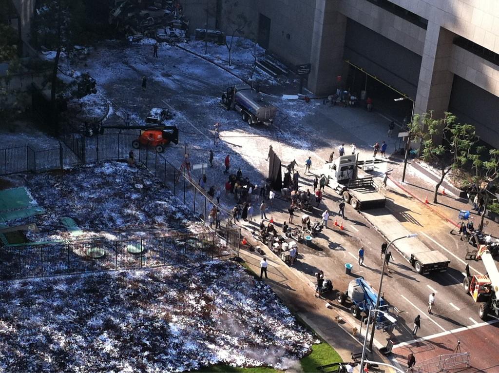 Préparatif sur le tournage de The Dark Knight Rises à Los Angeles