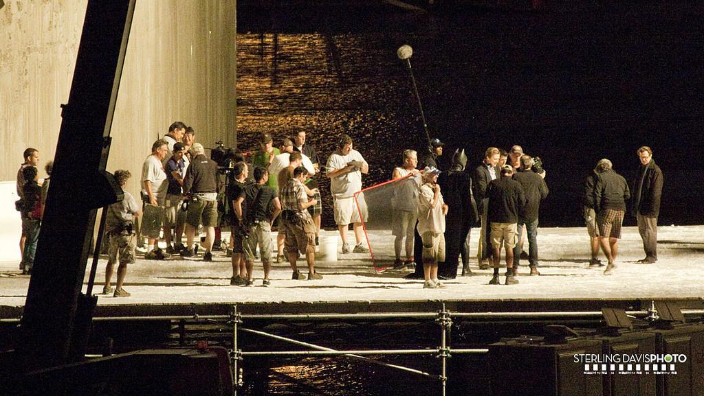 Sur le tournage de The Dark Knight Rises à Los Angeles avec Christian Bale, Christopher Nolan et Gary Oldman