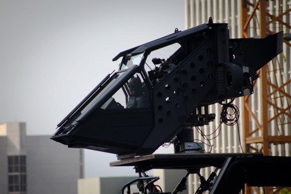 Le Bat sur le tournage de The Dark Knight Rises à Los Angeles