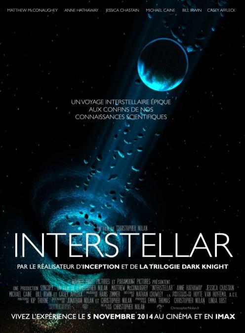 Affiche non officielle française d'Interstellar