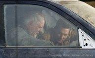 John Lithgow et Matthew McConaughey à Lethbridge pendant le tournage d'Interstellar