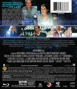 Arrière du Blu-ray américain de Transcendance