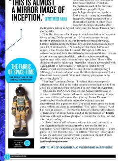 Dossier consacré à Interstellar dans le magazine Empire de novembre 2014