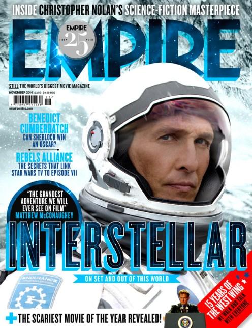 Couverture de l'édition normale du magazine Empire de novembre 2014