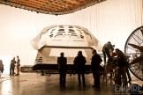 Hoyte van Hoytema, Christopher Nolan et l'équipe technique pendant le tournage d'Interstellar