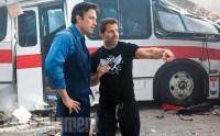 Ben Affleck et Zack Snyder sur le tournage de Batman v Superman