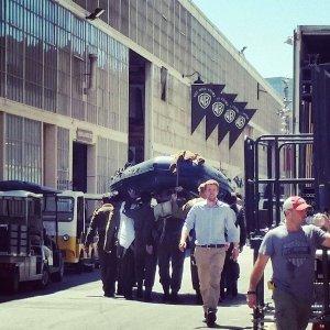 Harry Styles et Christopher Nolan sur le tournage de Dunkerque à Los Angeles