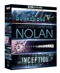 Coffret Christopher Nolan 3 films 4K Ultra HD