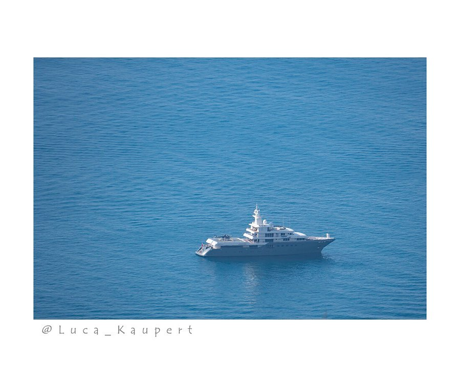 Yacht utilisé pour le tournage de Tenet à Amalfi, Italie, le 4 août 2019