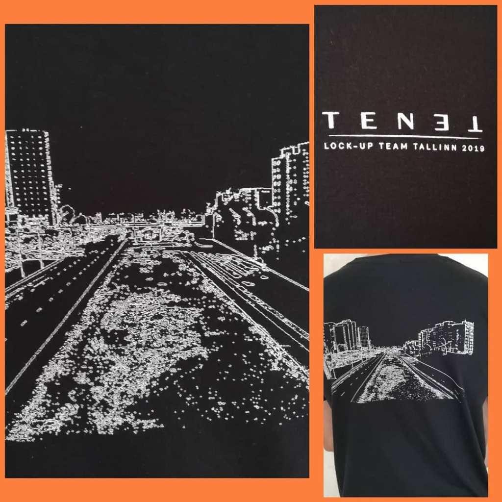 T-shirt reçu par certains participant au tournage de Tenet à Tallinn