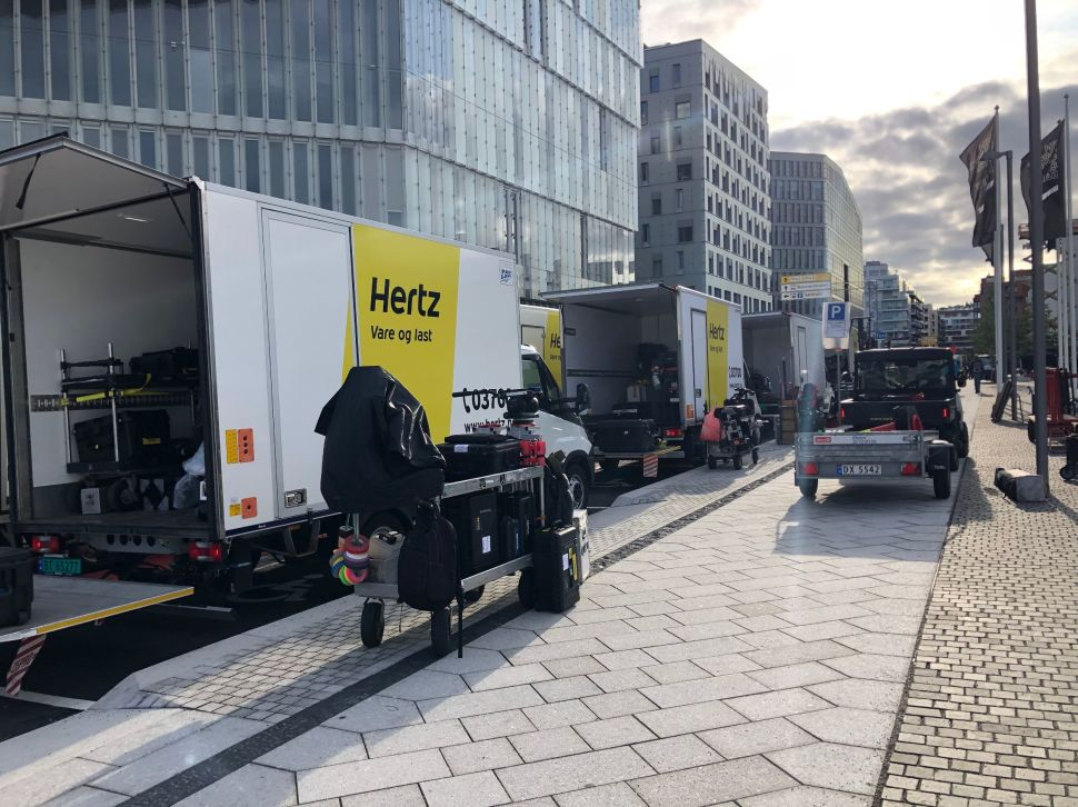 Pendant le tournage de Tenet à Oslo, Norvège, le 5 septembre 2019