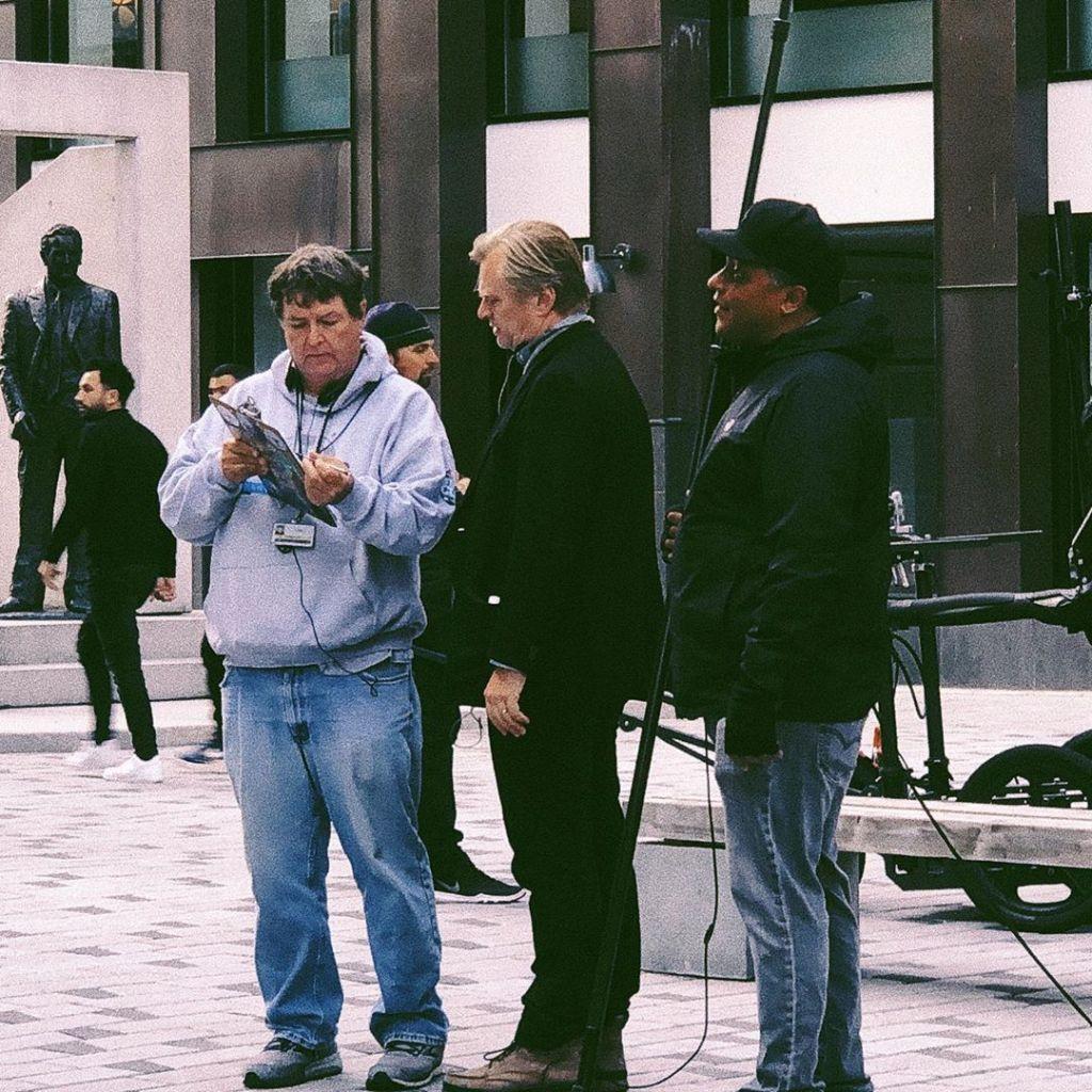 Christopher Nolan pendant le tournage de Tenet à Oslo, Norvège, le 5 août 2019