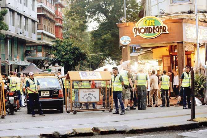 Pendant le tournage de Tenet à Mumbai, Inde, le 16 septembre 2019