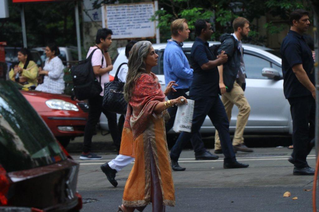 Dimple Kapadia pendant le tournage de Tenet à Mumbai, Inde, le 17 septembre 2019