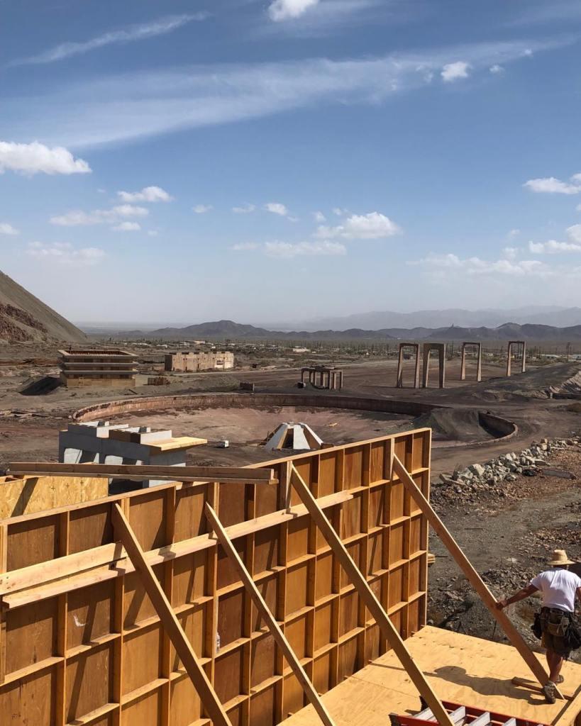 Sur les lieux du tournage de Tenet à Eagle Mountain, le 10 septembre 2019