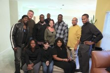 """Christopher C. Odom, Cornelius Booker III, Clifton Powell with the cast of """"23rd Psalm: Redemption"""""""