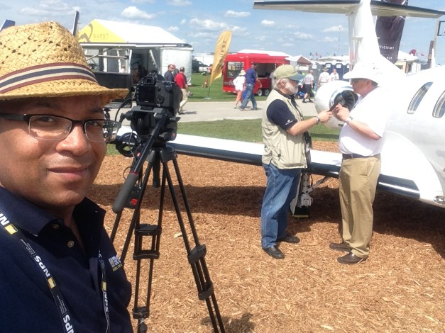 "Christopher C. Odom on location with ""Airborne Unlimited"" at the Sun n Fun Flyin 2015 in Lakeland, FL"