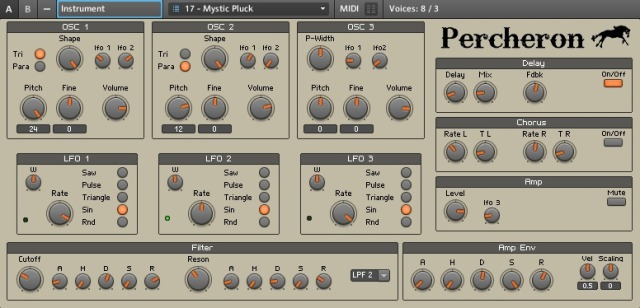 Percheron VA Reaktor Synth