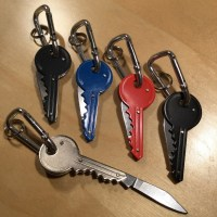 Key Pocket Knife w/Carabiner Key Holder