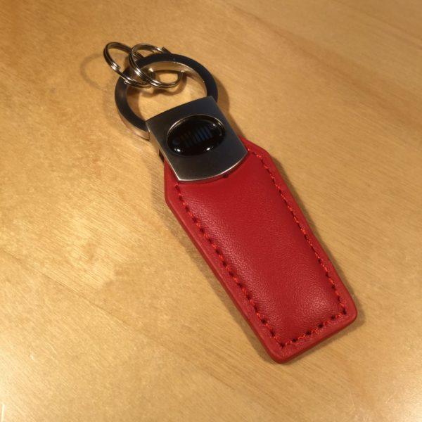 Brushed Satin Pull Twist Head Leather Key Holder