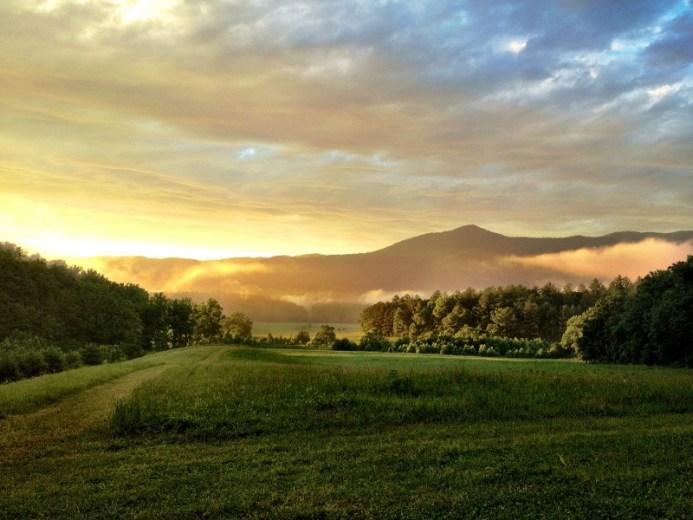 romantic smoky mountains picnic