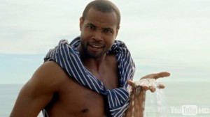 "Isaiah Mustafa as the ""Old Spice Man"""