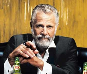 "I imagine that at this moment, ""Old Spice Man"" is enjoying a Dos Equis with the ""Most Interesting Man in the World"".  Stay thirsty my friends."