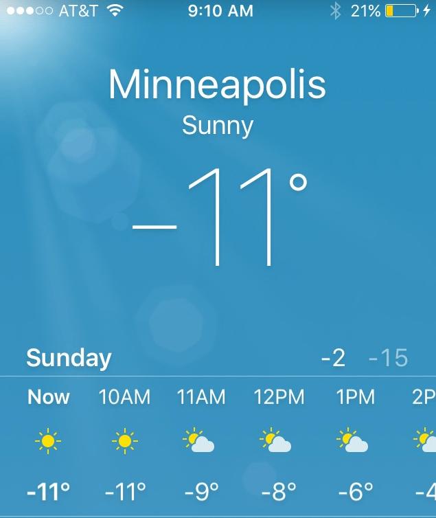 Minneapolis_11 Below_20160117