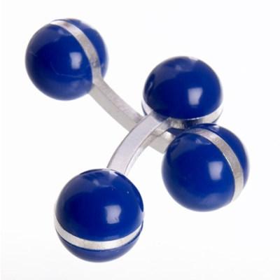 colour ball cufflinks blue
