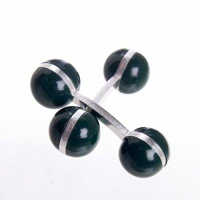 colour ball cufflinks green