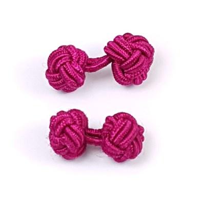 silk knot cufflinks violet