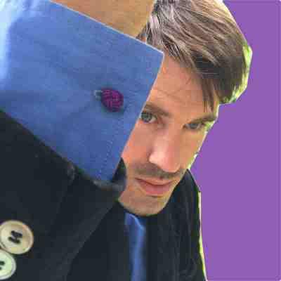 silk knot cufflinks purple