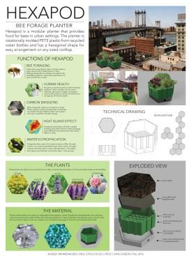 Hexapod Bee Forage Planter © Audrey Krumenacker (Project Summary)