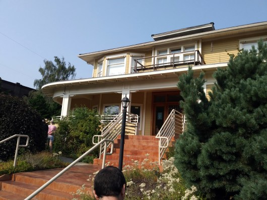 The East Multnomah Soil & Water Conservation District building sits at the corner of North Summer Street and North Williams Avenue, inviting visitors to explore its garden of drought and downpour tolerant plants.