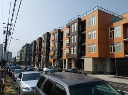 A move towards higher density: between NE Prescott and NE Skidmore Streets, North Williams Avenue takes a dramatic turn towards higher-density housing.
