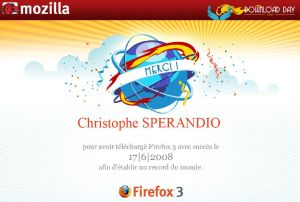 Certificat de téléchargement de Firefox 3