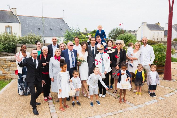 photo de groupe de mariage Plouhinec