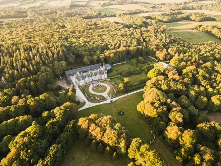 photographie aérienne château quimper