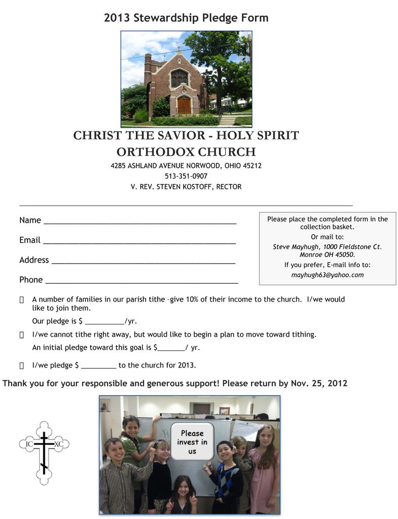 2013 Pledge Form