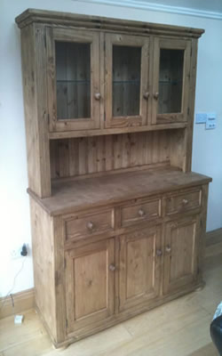 pine kitchen chairs ireland truck bed irish made furniture any design and finish we can make it glazed 3 door dresser with open server